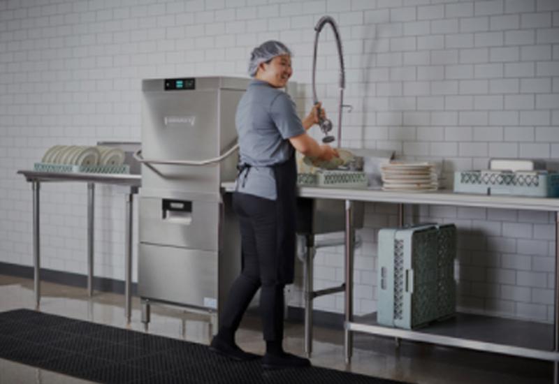 Hobart AMTL two level door-type commercial dishwasher