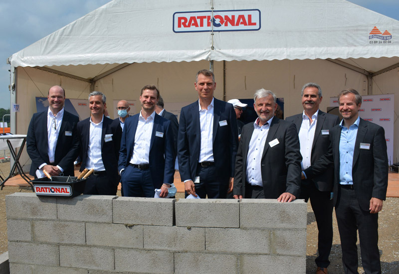 Ceremony to lay the foundation stone at Rational Wittenheim